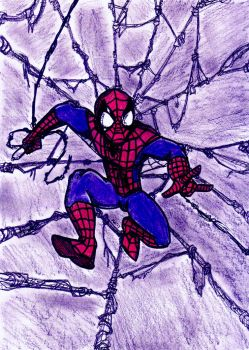 Spidey On The Web by Dreven