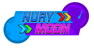 Nury And Moon Logo Sonic Rush Style by NuryRush