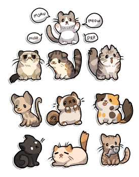 10 Cats by griffsnuff