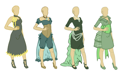 OI: Possible Bridesmaid Dresses by Spaniel122