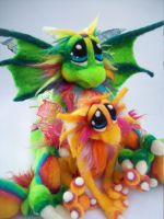 Citrus Sunshine Dragons 1 by Tanglewood-Thicket