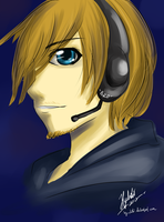 For PewDiePie :3 by hy-chibi