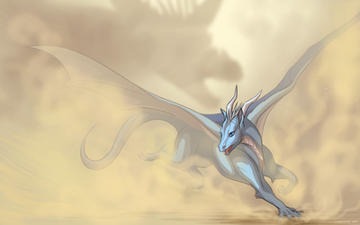 Fear the sand dragon by Lunewen