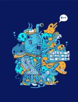sleeping with the fishes - tee by neilakoga