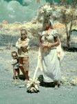 Ugandian woman with children in IR by IRSatyr