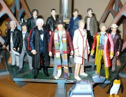 How I display my Doctors. by DoctorWhoNC