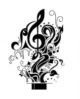 Music Tattoo by FarFallaLoduca