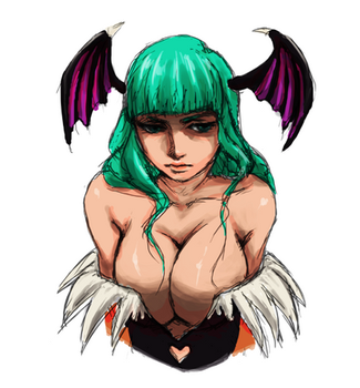 Morrigan sketch by DreamsOfSilence