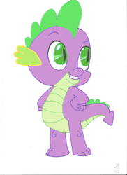 Spike the Dragon by JMK-Prime