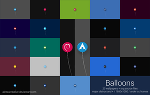 Balloons gnu/linux distros wallpapers by alezzacreative