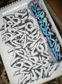 Graffiti alphabet and letters by KreDy