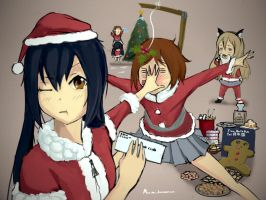 K-ON Christmas Shenanigans by CDKN