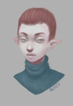 Look at this smug elf person by Kemostaja