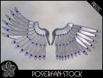 Metal Wings 002 Silver by poserfan-stock
