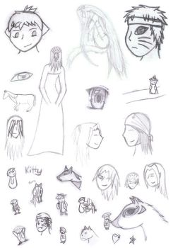 Sketch Dump by DaEvilKitty