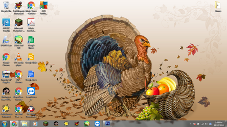 Windows 7 Desktop: Thanksgiving Turkey by jcpag2010