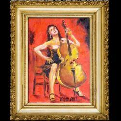 New Painting Released - The Cellist by OilPaintingOnCanvas