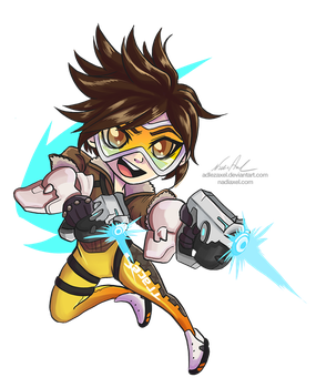 Chibi Overwatch :: Tracer by AdlezAxel