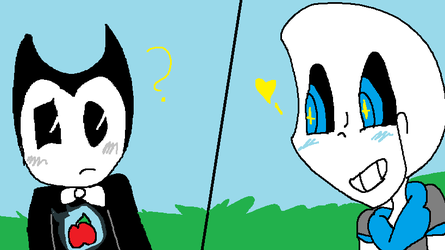 How Bendy and Sans met by lovie5678