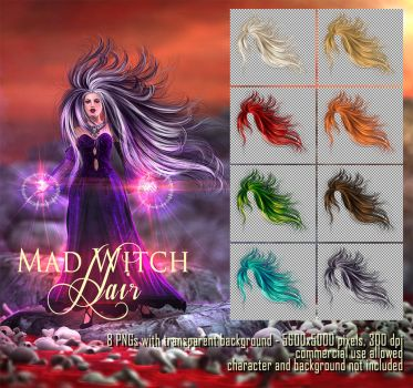 Mad Witch Hair by Trisste-stocks