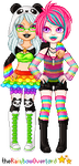 Neon Girlfrans by theRainbowOverlord