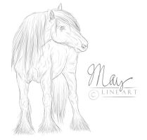 Horse Lineart by May-02