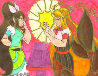 M.S.: Nixie visiting Chantelle by Winter-Colorful