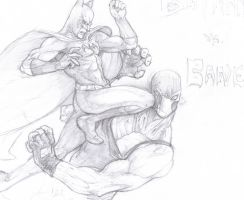 Batman vs. Bane by ronaproject