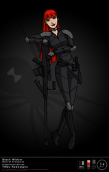 TRDL 2017 Series No. 14 - Black Widow Redesign by TRDLcomics