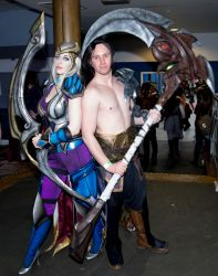 CosXpo 2018 - 136 Ashe and Kayn by cosmicnut