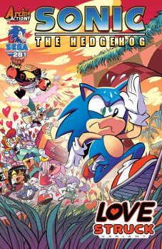 Sonic The Hedgehog Issue 281 - Love Struck Variant by Hewdraw