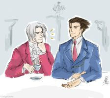 Ace Attorney - sketch by GinkgoLouve