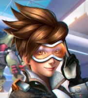 Overwatch - Tracer by AngellMoonlight