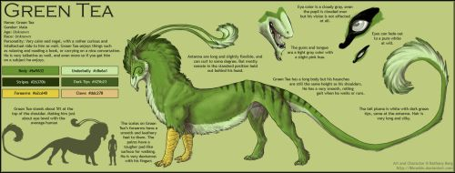 Green Tea :: Simple Refsheet by 86Caskin