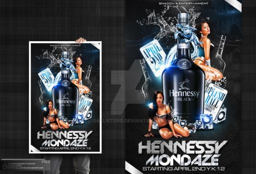 Hennessy Mondaze Party Flyer