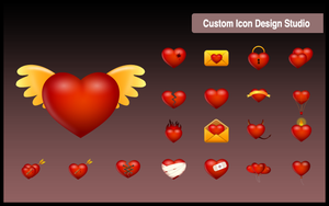 Valentine Love Icon by customicondesign