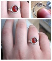 My First Bezel-Set Ring by chinchilakid