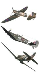 Spitfires Pack - Plane Resources png by rOEN911