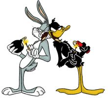 Bugs Bunny y el Pato Lucas by Winter-Freak