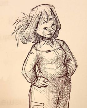 Mia in Ball Point by curiousdoodler