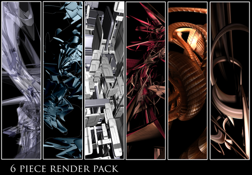 6-pack abstract renders by NeverMindNinpo