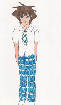 Sora in kh school uniform by Bella-Who-1