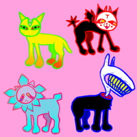 magical cat/dogs (CLOSED) by snailboxx