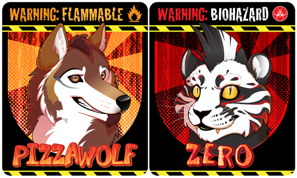 Sharpe19 End Of The World Badges by Crazdude