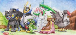 Sinnoh Champions Group Shot by JamesTheUnworthy