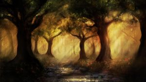 Elven vale day by AyarnE