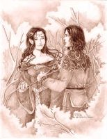 Aragorn and Arwen by cathy-chan