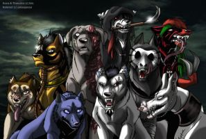 Horror dogs by IsisMasshiro