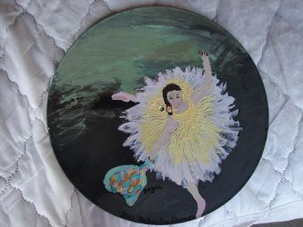 Dancer with Bouquet on LP by LeopardBrightsky