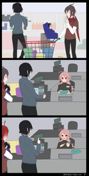Satanick and Ivlis are buying needing things by cleoly16
